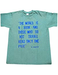 T-shirt with classic travel quotes