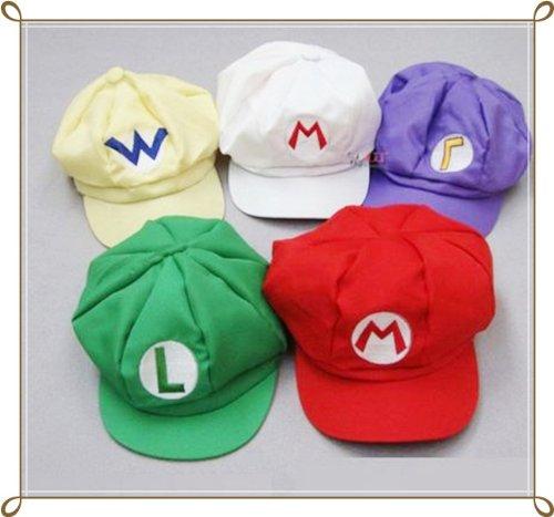 5-piece set [super stupendo! Presa 20% di sconto Ci berretto cappello costume cosplay] stile Super Mario Luigi Wario Waluigi [traduzione] (japan import)