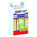 Tesa Comfort - Malla para puertas 2 telas de 0.65 cm x 2.2 m, color blanco