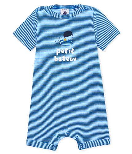 Petit Bateau Baby-Jungen Bertine Spieler, Mehrfarbig (Riyadh/Marshmallow 01), 62 (Herstellergröße: 3M/60cm)