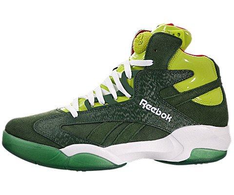 Reebok Shaq Attaq Herren Grün Basketball Schuhe Größe Neu EU 45,5