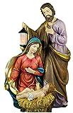 Flambeaux Grande Sagrada Familia Belén de Navidad-poliresina 38cm Pintado a Mano...