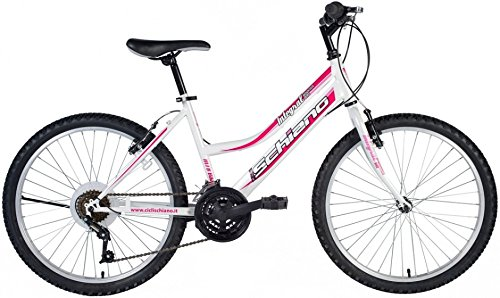 F.lli Schiano Power, Bicicletta MTB Donna, Bianco/Viola, XL