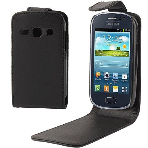 JiuRui Custodie e Cover per Custodia in Pelle Flip Verticale Samsung Galaxy Fame / S6810