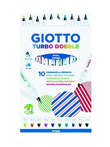 Giotto 4246 00 Turbo Dobble Fasermaler, Mehrfarbig