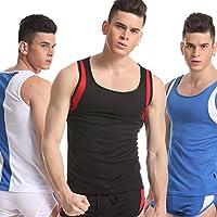 GS~LY Intimo maschile wicking traspirante basket senza maniche uniformi , blue , l Acquista 2 ottenere 1