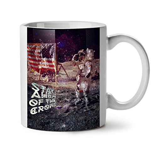 Nach Am Dem Morgen Kostüm - Wellcoda Apollo Galaxis Keramiktasse, Galaxis - 11 oz Tasse - Großer, Easy-Grip-Griff, Zwei-seitiger Druck, Ideal für Kaffee- und Teetrinker