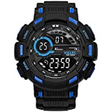 Adisaer Armbanduhr Herren Uhrwerk Wasserdicht Digitale Uhr Herrenuhr Schwarz Blau Outdoor Sportuhr Armbanduhr Automatikuhr