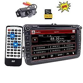 Doppio DIN Car stereo 20,3 cm touchscreen autoradio in dash navigazione GPS USB/SD FM AM RDS autoradio Bluetooth Headunit per VW Golf 5 6 polo Touran EOS Jetta Passat CC Tiguan Sharan Scirocco Caddy