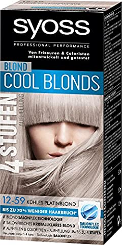 Syoss Blond Cool Blonds 12-59 Kühles Platinblond Stufe 3, 3er