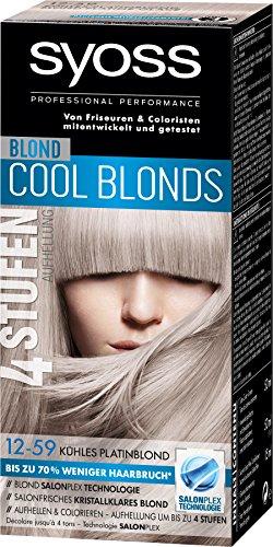 Syoss Blond Cool Blonds 12-59 Kühles Platinblond Stufe 3, 3er Pack (3 x 115 ml)
