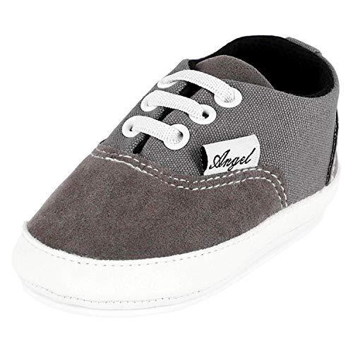 Krexus Krabbelschuhe Baby Sneaker Angel Grau Gr. 0-6 Monate XB01603_0