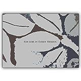Direkte Fertigung von 20 Trauer Dankeskarten: Design innen ihr Text. Motiv: