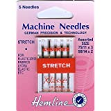 Hemline H102.99 Stretch Machine Needles 5x 75/11 90/14 Two-Way Stretch Knits