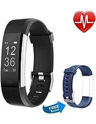 Fitness Tracker HR, Letsfit Fitness Armband Uhr mit Pulsmesser, IP67 wasserdichte smart Watch Sport Fitness Aktivitätstracker Schrittzähler, Bluetooth Touchscreen Armbanduhr mit Herzfrequenz / Schlafanalyse / Kalorienzähler, SMS Anrufe Reminder Fitness Uhr für Android und iOS
