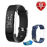 Letsfit Fitness Armbanduhr mit Herzfrequenz, Fitness Tracker, IP67 Wasserdicht Bluetooth Sportuhr mit GPS Aktivitätstracker Schrittzähler, Schlaf Monitor, Kalorienzähler, Pulsuhr für Android/iOS