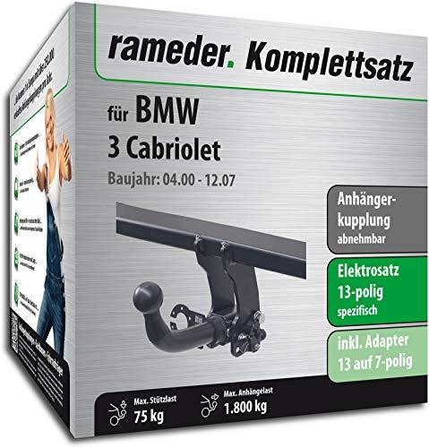 Rameder Komplettsatz, Anhängerkupplung abnehmbar + 13pol Elektrik für BMW 3 Cabriolet (113179-04571-3)