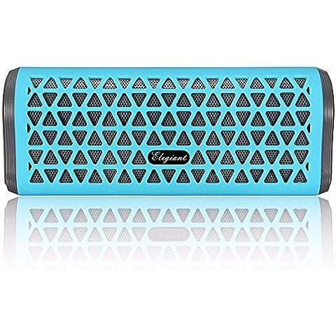 ELEGIANT Mini Bluetooth Altavoces Estéreo Con Micrófono Con Bajos Super 5 De La Tarjeta Del TF Vatios Radio FM Para Smartphone Iphone Tableta De Samsung y Otros Dispositivos Bluetooth Azul