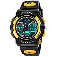 Easony New Toys for 5-7 Year Old Boys Girls, Led Digital Watches with Alarm for Kids Birthday Gifts Presents for 3-12 Year Old Boys Girls Yellow ESUKSW02