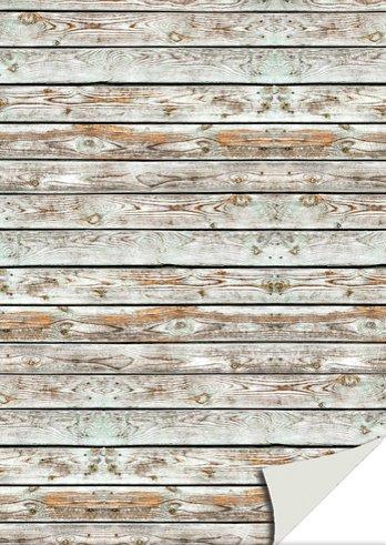 Kartenkarton Holz weiss-braun
