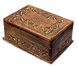 budawi Holz Box Puzzle Box aus Indien mit geheimen Trick Zum öffnen, Schmuckschatulle, Box-Schachtel Schatule Wooden Box
