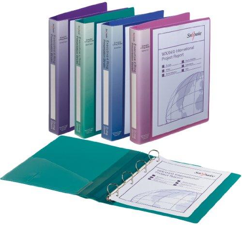 SNOPAKE 513316 Ringbuch, 10 Stück, 4D-Ring, A4, farblich sortiert mehrfarbig