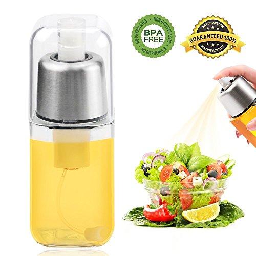 Weeygo Luftdruck Ölsprüher Premium Edelstahl Glas Pumpe Sprühflasche Zum Kochen & Salat, 200ml