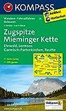 Zugspitze - Mieminger Kette - Ehrwald - Lermoos - Garmisch-Partenkirchen - Reutte: Wanderkarte mit Aktiv Guide, Radwegen und Skirouten. GPS-genau. 1:50000 (KOMPASS-Wanderkarten, Band 25) -