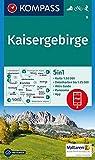 Kaisergebirge: 5in1 Wanderkarte 1:50000 mit Panorama, Aktiv Guide und Detailkarten inklusive Karte zur offline Verwendung in der KOMPASS-App. ... 1:50 000 (KOMPASS-Wanderkarten, Band 9)