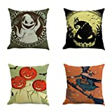 SEWORLD Halloween 4PC Home Car Bett Sofa Dekorative Brief Kissenbezug Kissenbezug D