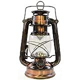 Lloytron 15x LED Sturm Lampe Laterne–Kupfer, Glas,