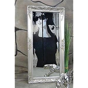 Livitat® Wandspiegel 100 x 50 cm Spiegel Badspiegel barock antik Silber