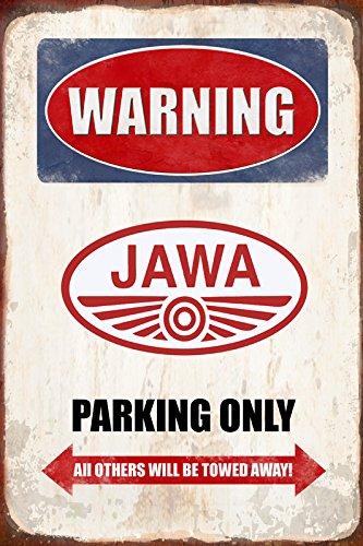 Warning Jawa Parking only park schild tin sign schild aus blech garage