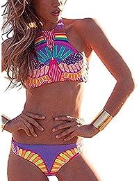 BYD Mujeres Bikinis Conjuntos Coloridos Push Up Bañador Étnica Impresión Floral Ropa de baño 2pcs Tankini Tops + Shorts