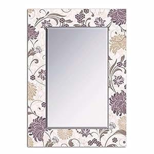 Lola derek specchio da parete per ingresso in legno for Amazon specchi da parete