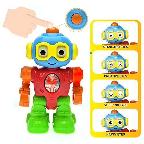 WEofferwhatYOUwant Robottino Amico Cambia Umore, Robot Giocattolo per Bambini Piccoli