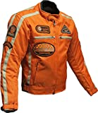 BOS Motorrad Jacke Motorrad Jacke orange Motorrad Jacke 3XL, Orange