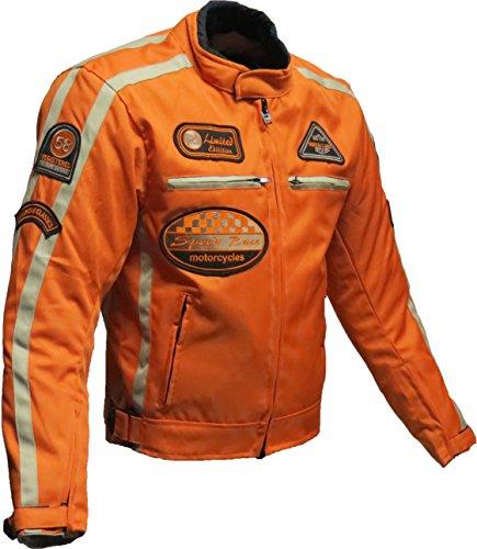 Motorrad Jacke Motorrad Jacke orange Motorrad Jacke 5XL, Orange