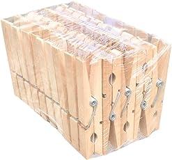 Wäscheklammern Holz - lang, 8cm - 50 Stück