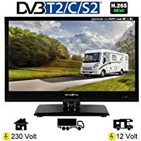 Reflexion LED16 LED-TV 15,6 Zoll 39,6 cm Fernseher DVB-S2 -C -T2 12/230 Volt Wohnmobil Camping