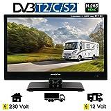 Reflexion LED16 LED-TV 15,6 Zoll 39,6 cm Fernseher DVB-S2 -C -T2 12/230 Volt Wohnmobil Camping
