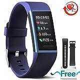 MorePro Fitness Armband mit Blutdruckmessung,Wasserdicht IP67 Aktivitätstracker mit Herzfrequenz,Fitness Tracker Blutdruckmessgerät mit Vibrationsalarm,kompatibel mit für iOS Android