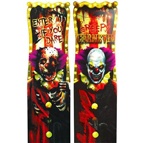 al Linsenraster Vinyl Poster Halloween Party Tür Dekoration–94cm (Halloween-kostüm-party-plakat)