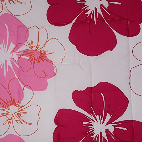 Handcraftd Single Bed Ac Blanket Dohar/Quilt Pink Flowers , Fabric - Micro Cotton, Size -54x84 Inches, Color Fastness Guarantee