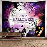 VEMOW kommende Halloween Mond Kürbis Tapisserie Zimmer Tagesdecke Wand Kunst hängenden Home Decor Grand 130cm x 150cm/51.18