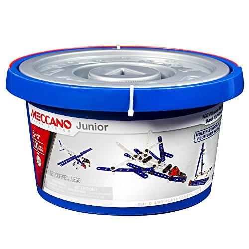 Mecano-6026707-Construction-Set-100-Piezas-Meccano-junior-barril
