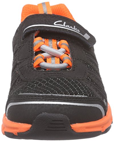 Clarks Kids Pass Fly Inf, Baskets Basses garçon Noir (Black Combi)