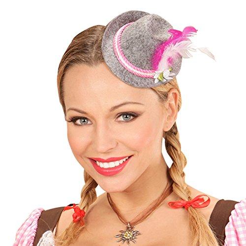 Unbekannt Damen Filzhut Trachtenhut mit Kordel und Federn Oktoberfest Verkleidung