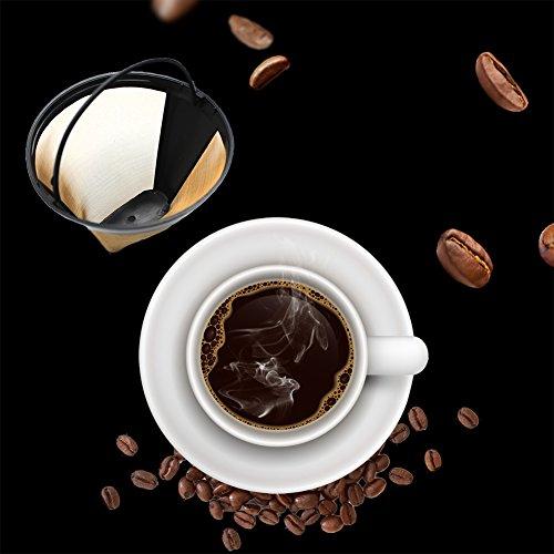 Klebeetiketten, rund, 304Edelstahl Mesh-Kaffeetasse, wiederverwendbar, waschbar, langlebig, mit...
