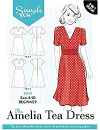 907c45c88779f7 Damen einfach Sew Schnittmuster die Amelia Tee Kleid Anfänger Größen ...